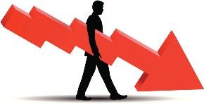 Pokles cen - výdělek díky short selling strategii